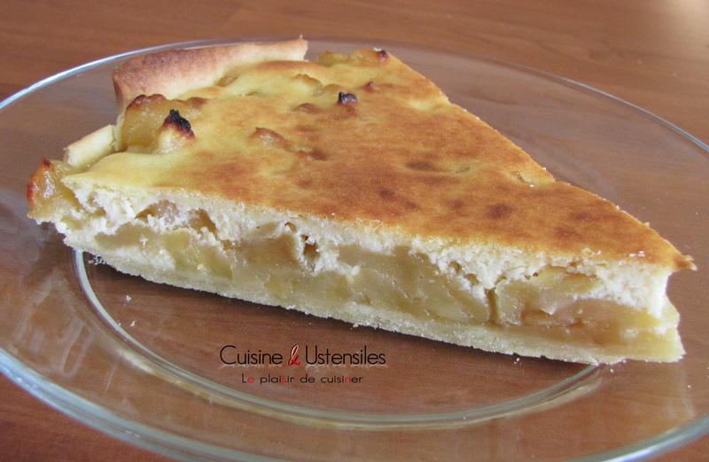 recette tarte aux pommes fondantes et cr me d 39 amande le blog de cuisine et ustensiles. Black Bedroom Furniture Sets. Home Design Ideas