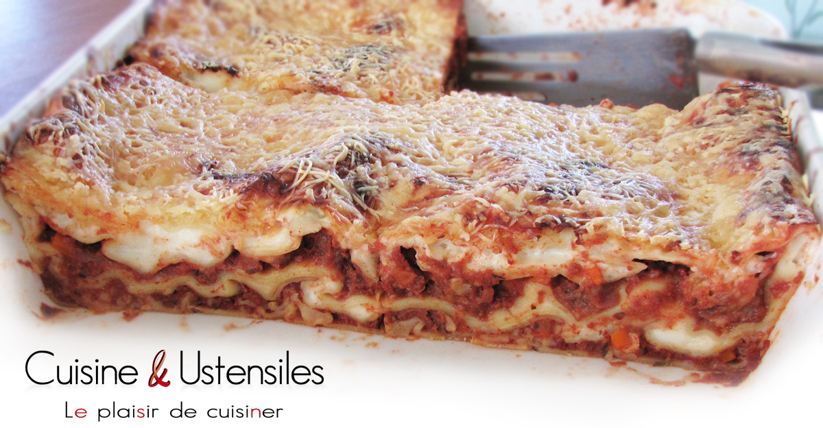 recette lasagnes maison le blog de cuisine et ustensiles. Black Bedroom Furniture Sets. Home Design Ideas