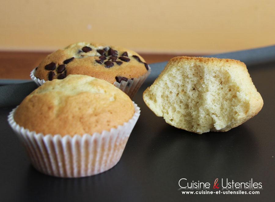 muffins vanille et pepites de chocolat